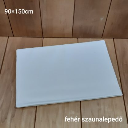 Fehér vászon szaunalepedő 90x150